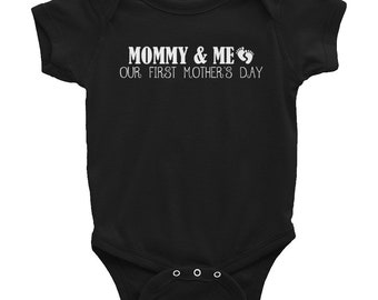Mommy And Me Infant Bodysuit-Mother's Day Gift-First Mother's Day Gift-First Mother's Day Shirt-Gift From Baby-1st Mothers Day Outfit-Mother