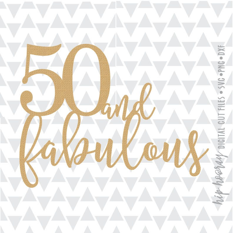 Silhouette Fifty Fab Woman: Fifty And Fabulous Fiftieth 50th Birthday Cake Topper