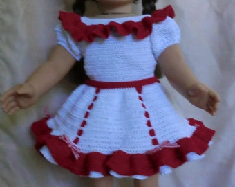 """Designer Original Square Dance Outfit #233 For American Girl & 18"""" Soft Bodied Dolls"""