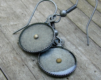Mustard Seed Earrings... Matte Antique Silver Mustard Seed Earrings - Mustard Seed Dangly Earrings