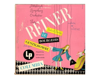 """Alex Steinweiss record sleeve design, 1949. Richard Strauss, Le Bourgeois Gentilhomme. Columbia Records ML-2177. 10"""" LP"""