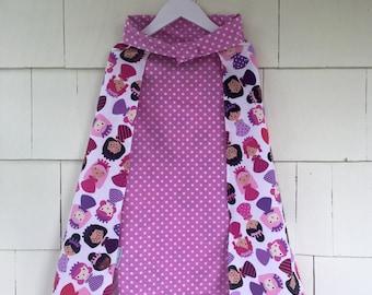 Princess Dress Up Cape | Reversible Orchid Polka Dot | Costume