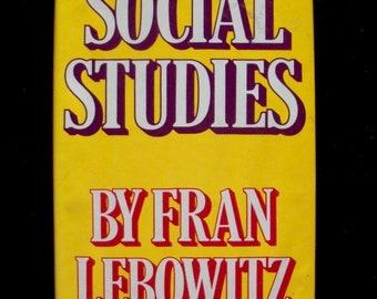 Fran Lebowitz--Social Studies (Hardcover, 1981)