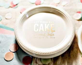 Cake Plates Let Them Eat Cake Personalized Plates Wedding Favors Party Plates & Party Plates Cake Plates Let Them Eat Cake Personalized