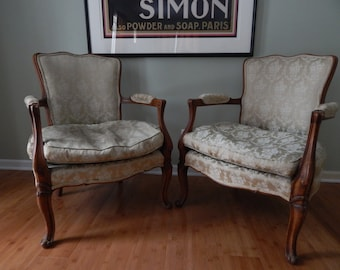 Antique Queen Anne Chairs Pair