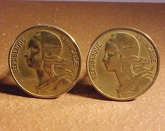 France Coin Cuff Links