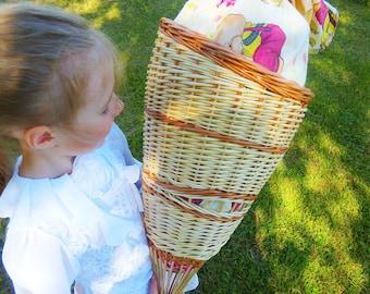 Schultüte aus Weiden flechten, candy cone, school cone, back to school, kinder cone