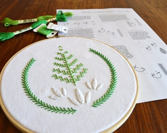 Tree Growers Guild Sampler hand embroidery pattern, embroidery sampler, modern embroidery, embroidered patches, PDF pattern