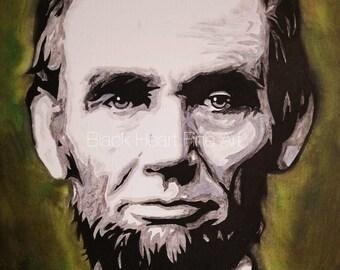 Abraham Lincoln Original Oil Painting Print 8x10
