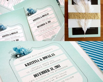 Pomp Wedding Invitation Suite on 100% Cotton