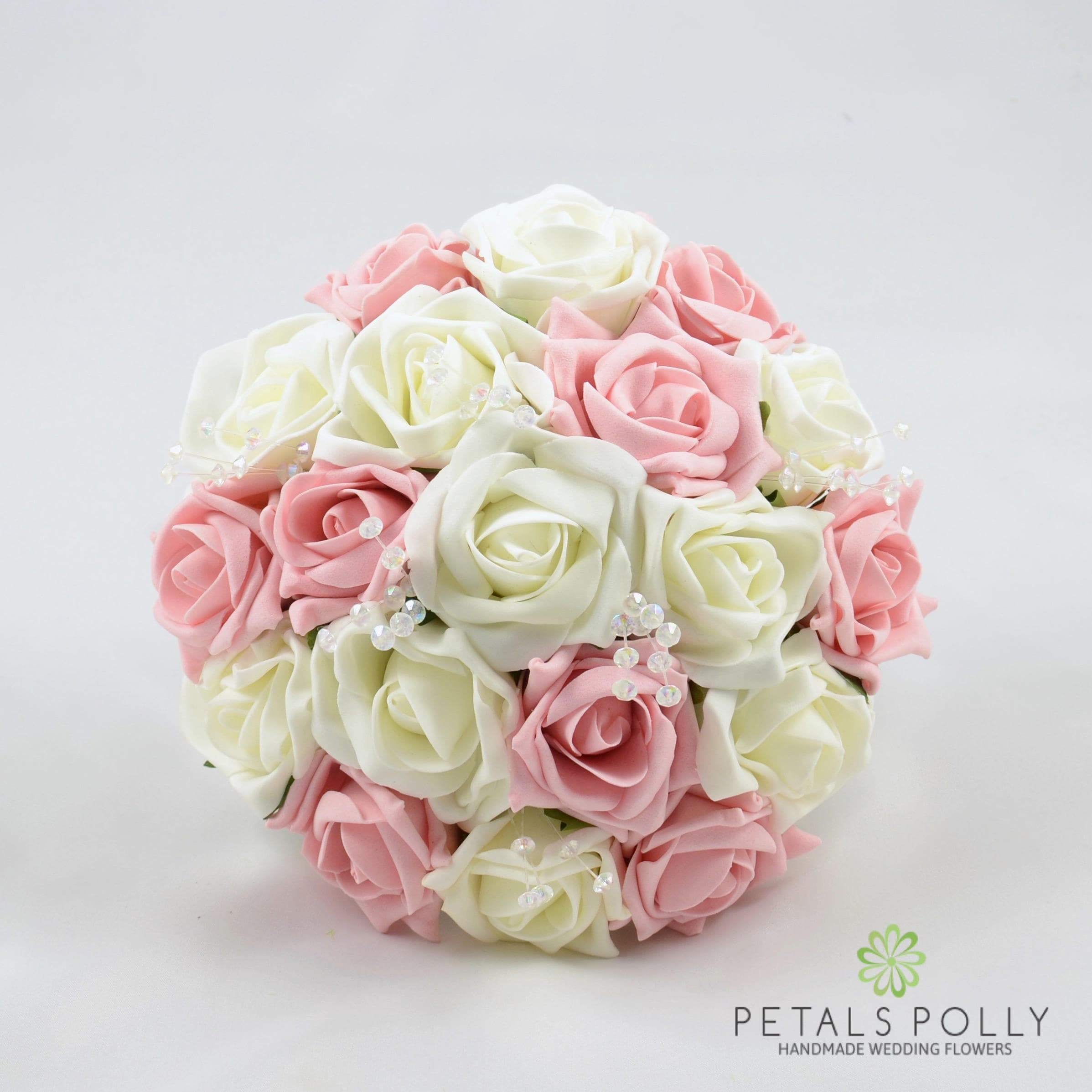 Artificial Wedding Flowers Antique Pink & Ivory Bridesmaids