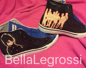 """Hand Painted """"The Outsiders"""" Sneakers"""