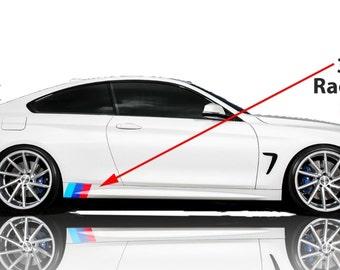 BMW M Color 3 Stripe Decal For Side Skirt Vinyl Decal Sticker Nicko Designz