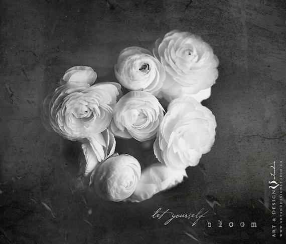 Photography quote prints black white botanical print flower mightylinksfo