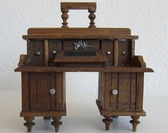 Vintage Dollhouse Furniture: Desk