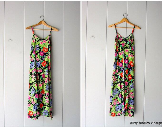 90s Long Floral Dress