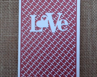 Handmade Card, Greeting Card, Love, Valentine, Anniversary, Wedding