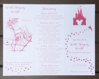 Custom | Disney | Bachelorette | Invite | Itinerary