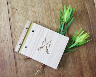 Arrows Wedding Guest Book, Custom Wood Guestbook, Photo Book, Engagement Gift