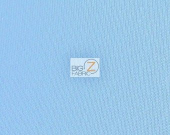 "Neoprene Scuba Techno Athletic Double Knit All-Purpose Fabric - Sky Blue - Sold By The Yard 58"" Width Lycra Active wear"