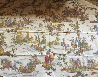 French Country Romantic Toile Les Plaisirs Agrestes by Brunschwig and Fils