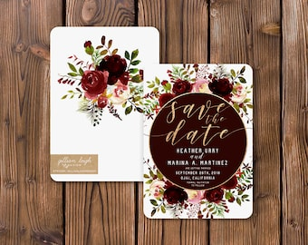 Fall Floral Save The Date