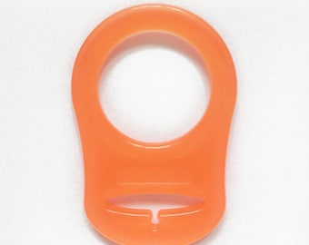 1 Orange silicone pacifier & creating pacifier adapter