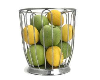 Motta Wire Fruit Basket. Stainless Steel Italian Fruit Basket. Bread basket. Vintage Italian Design.