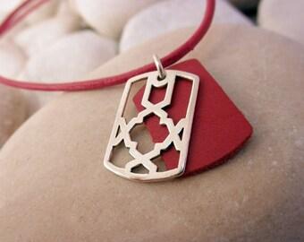 Handmade silver pendant. Sterling Silver Pendant.