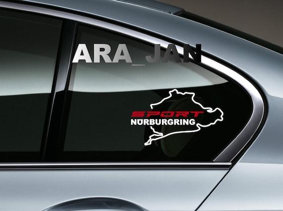 2 st ck sport n rburgring vinyl aufkleber aufkleber racing. Black Bedroom Furniture Sets. Home Design Ideas