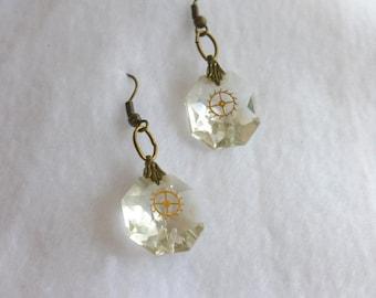 Steampunk Recycled Earrings  SE121
