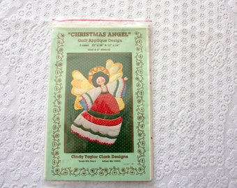 Pattern for Christmas Angel Quilt Applique Design, Vintage angel pattern, Angel applique , Cindy Taylor Clark Designs