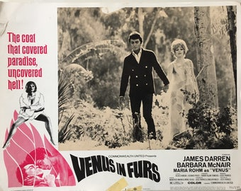 Original US lobbycard Venus in Furs Dir. Jess Franco 1969