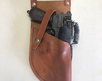 Star Wars Real Leather Mauser Merr Sonn Power 5 HOLSTER in brown costume prop