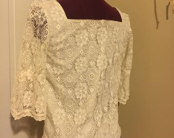 Lace Cream Blouse
