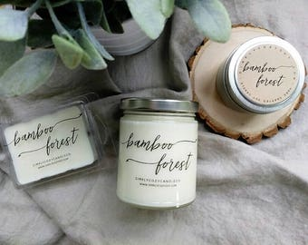 bamboo forest - hand poured soy candle