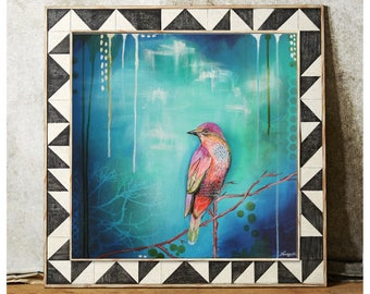 Coral bird- 11x14 Giclee print
