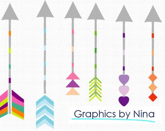 INSTANT DOWLOAD   Arrows Clipart Scrapbook for Personal and Commercial Use