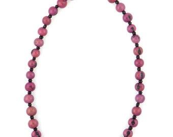 Acai Seed Necklace / Purple Necklace / Collar Necklace / Acai Seed Jewelry / Seed Jewelry / Fair Trade / Layering Necklace / Acai Necklace