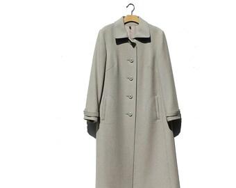 Vintage Green Wool Coat