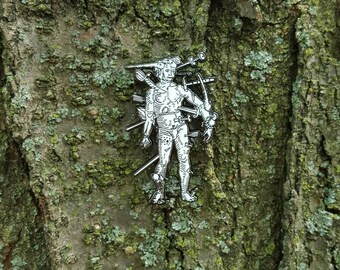"Wound Man Medieval Art 2"" Enamel Pin"