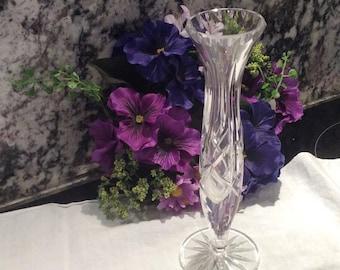 Beautiful Single Stem Cut Crystal Vase