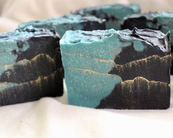 Organic homemade Hemp Oil and Activated Charcoal Soap with Tea Trea Essential oil! Natural Soap