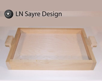 "Unfinished Wooden Tray  2.5""x 13"" x 19"""