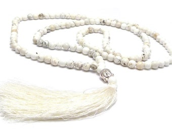 Mala Chain-Beige Turquoise & Buddha