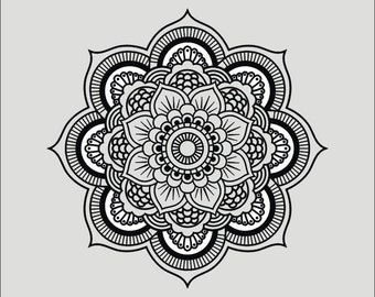 Mandala I - svg - ai - dxf - cdr - eps - jpeg - png -pdf -wmf -docx -Iron on Transfer  - Cricut file - Laser Cutting and Engraving