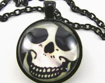 JOLLY ROGER Necklace--Piraten Medaillon, Captain Jack Sparrow, Pirate smile und Augenklappe, Skelett grin