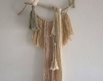 Cheyenne, beige dreamcatcher made of wool