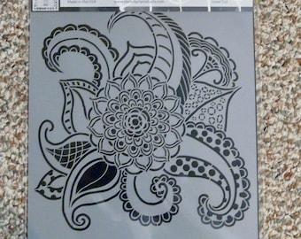 Mandala Floral Octopus  Stencil Girl laser cut stencil  9 x 12