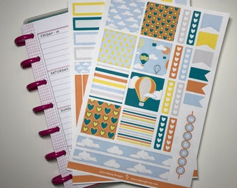 Hot Air Balloon Mini Happy Planner Kit - Collection - Planner Stickers - Happy Planner